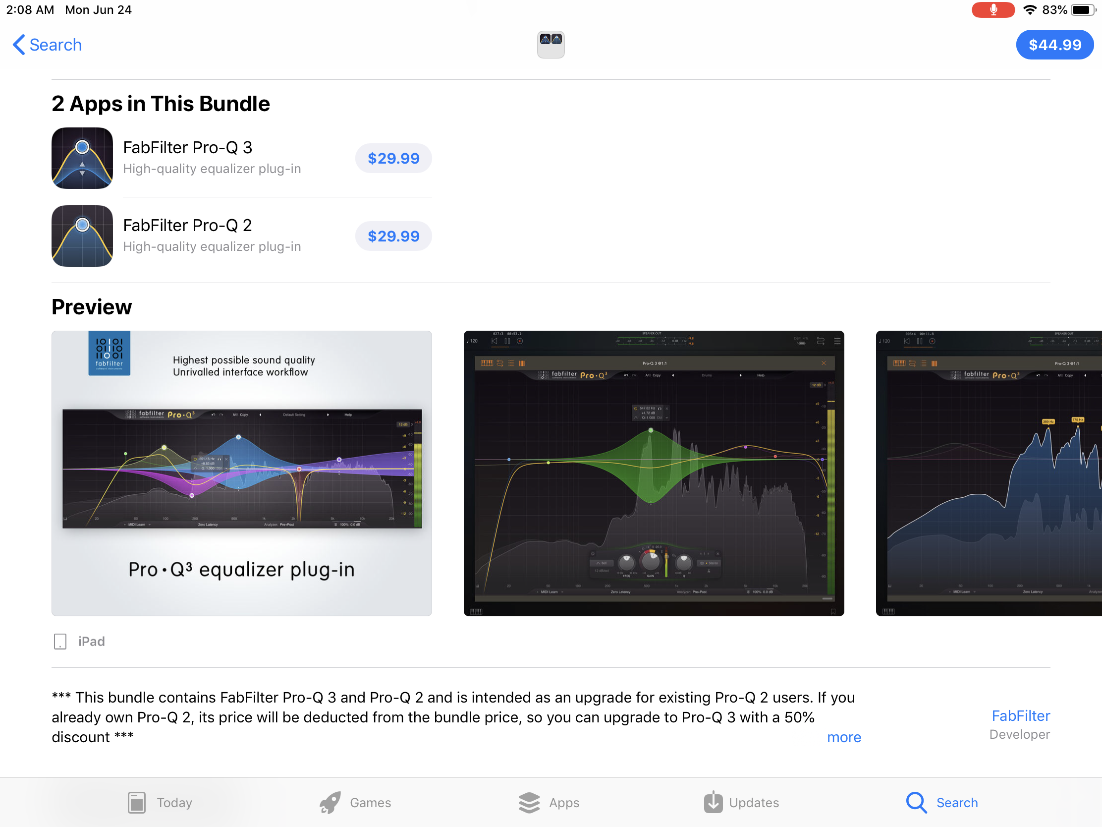 New FabFilter apps - Page 11 — Audiobus Forum