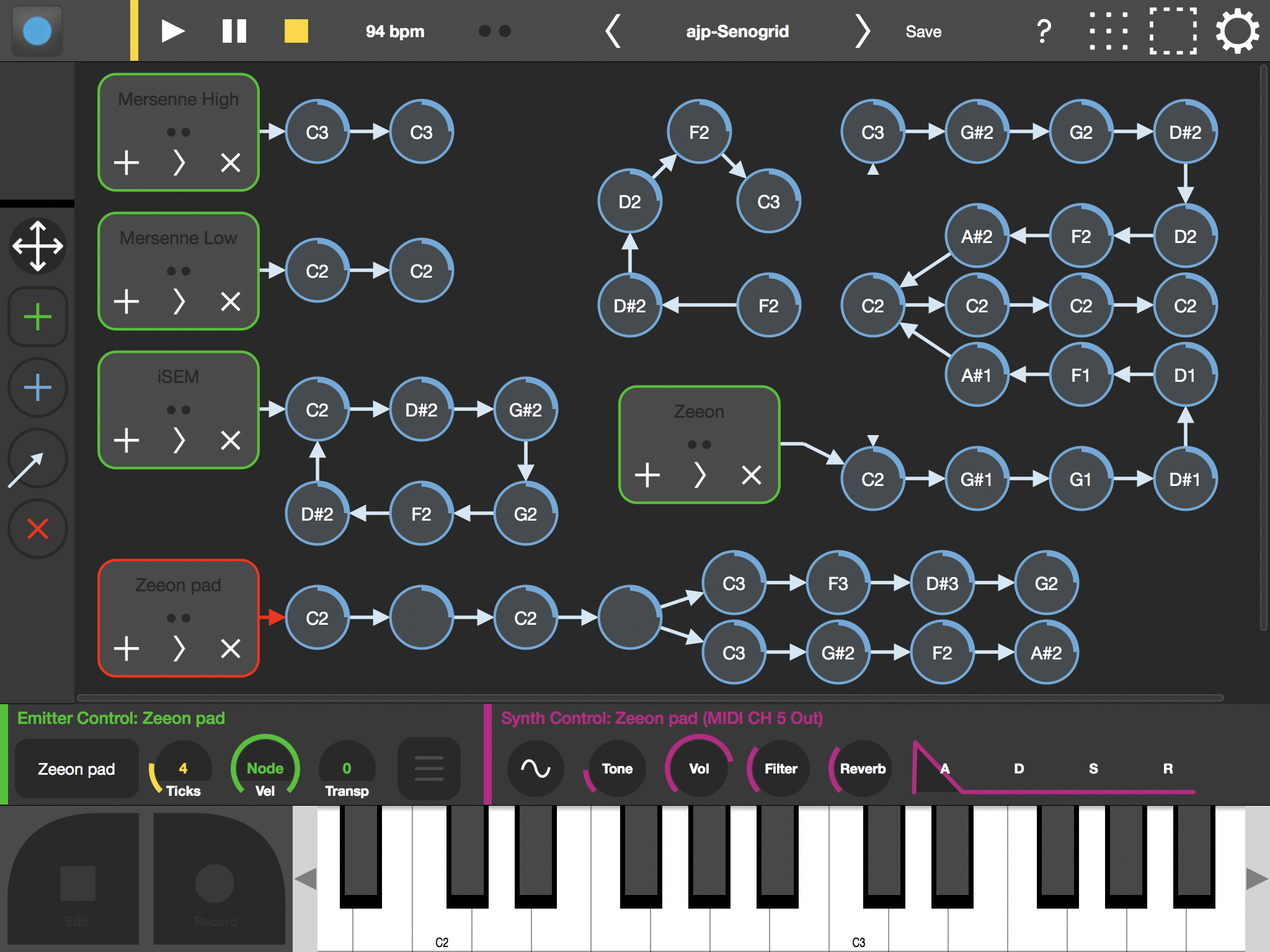Over Synched Brains Trigger Out Of Step >> Senogrid Demo Of Sonogrid Triggering Senode Audiobus Forum