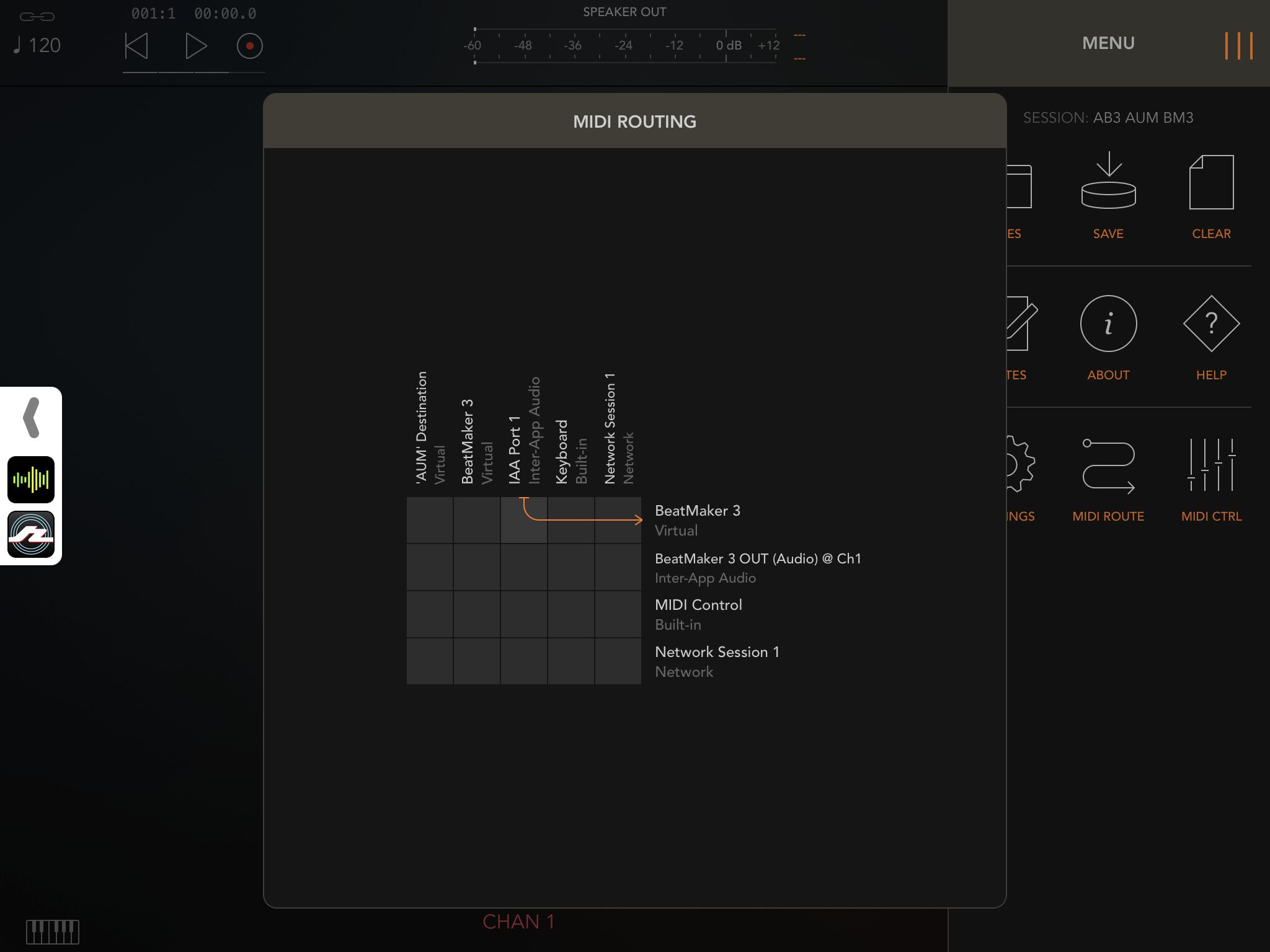 BeatMaker 3 receiving MIDI or Audio within AudioBus