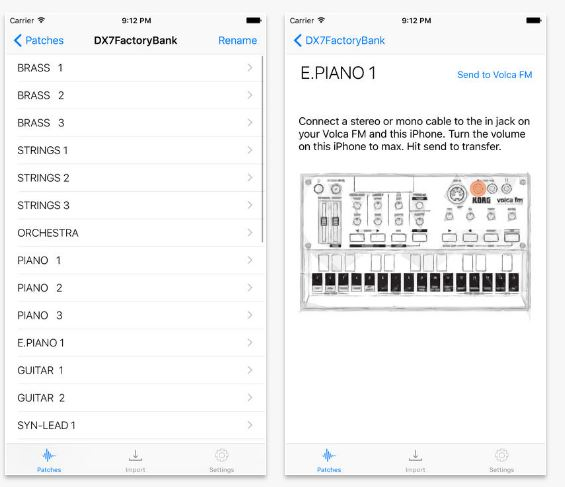iOS editor / librarian for Korg Volca FM - Page 2 — Audiobus