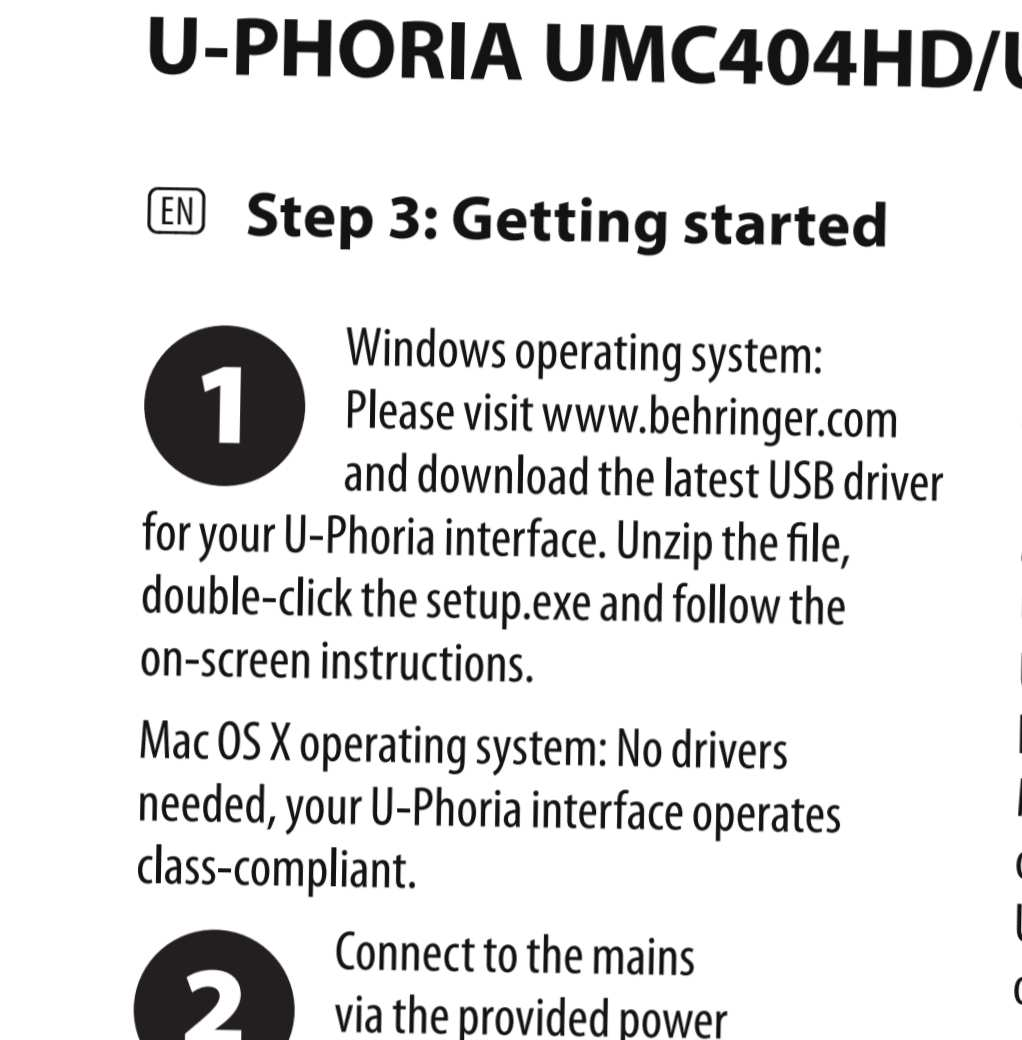 behringer u-phoria umc404hd driver mac