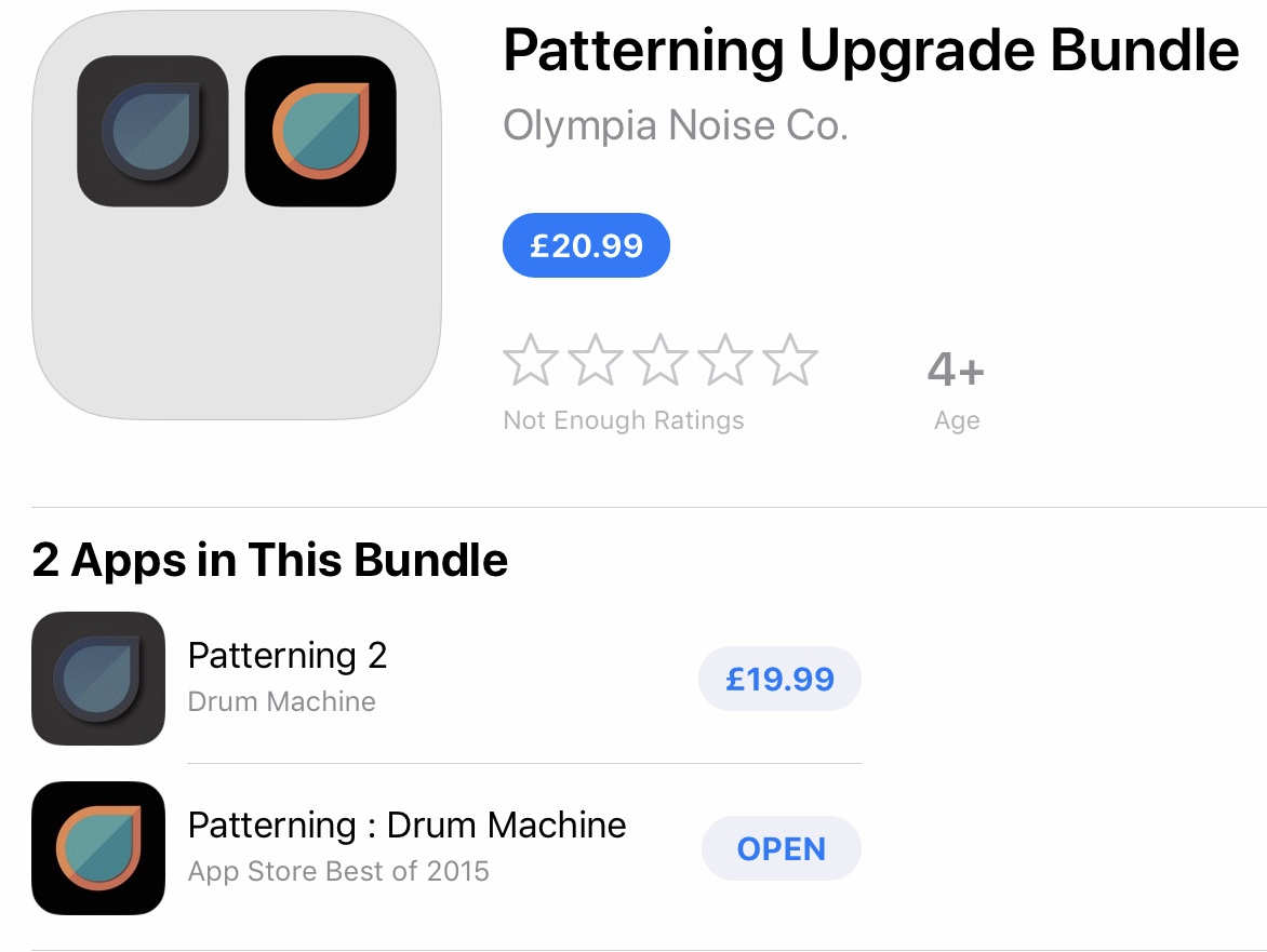 Patterning 1 -> 2 Upgrade Bundle — Audiobus Forum