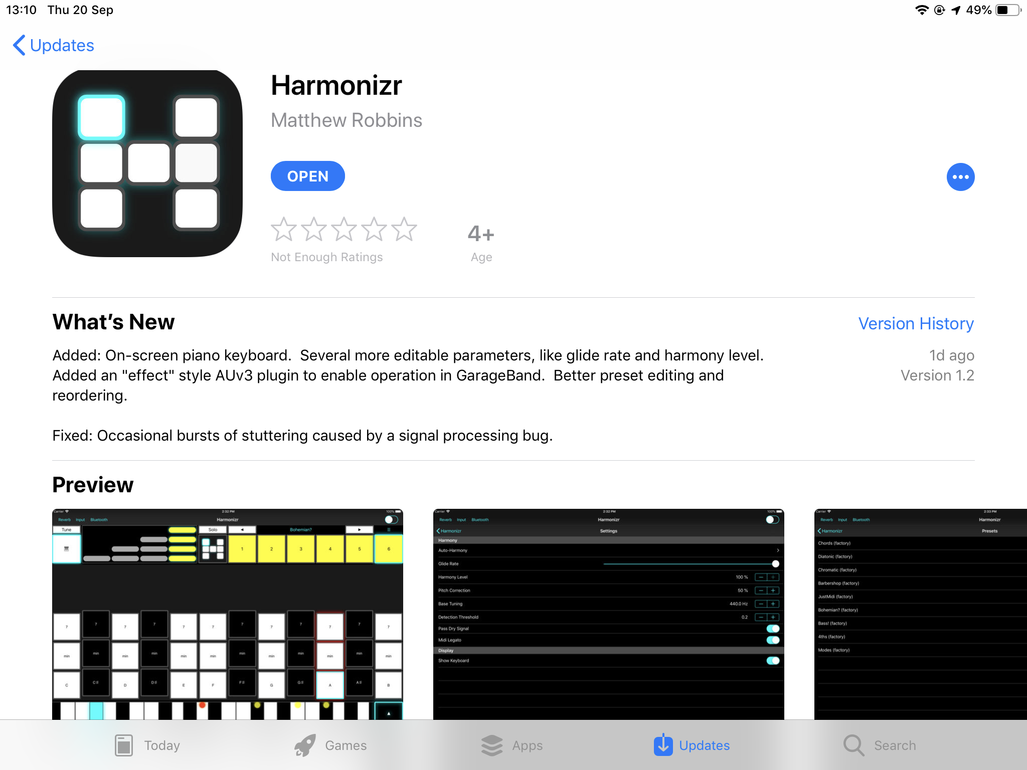 Harmonizr Goes AU3 for GarageBand — Audiobus Forum