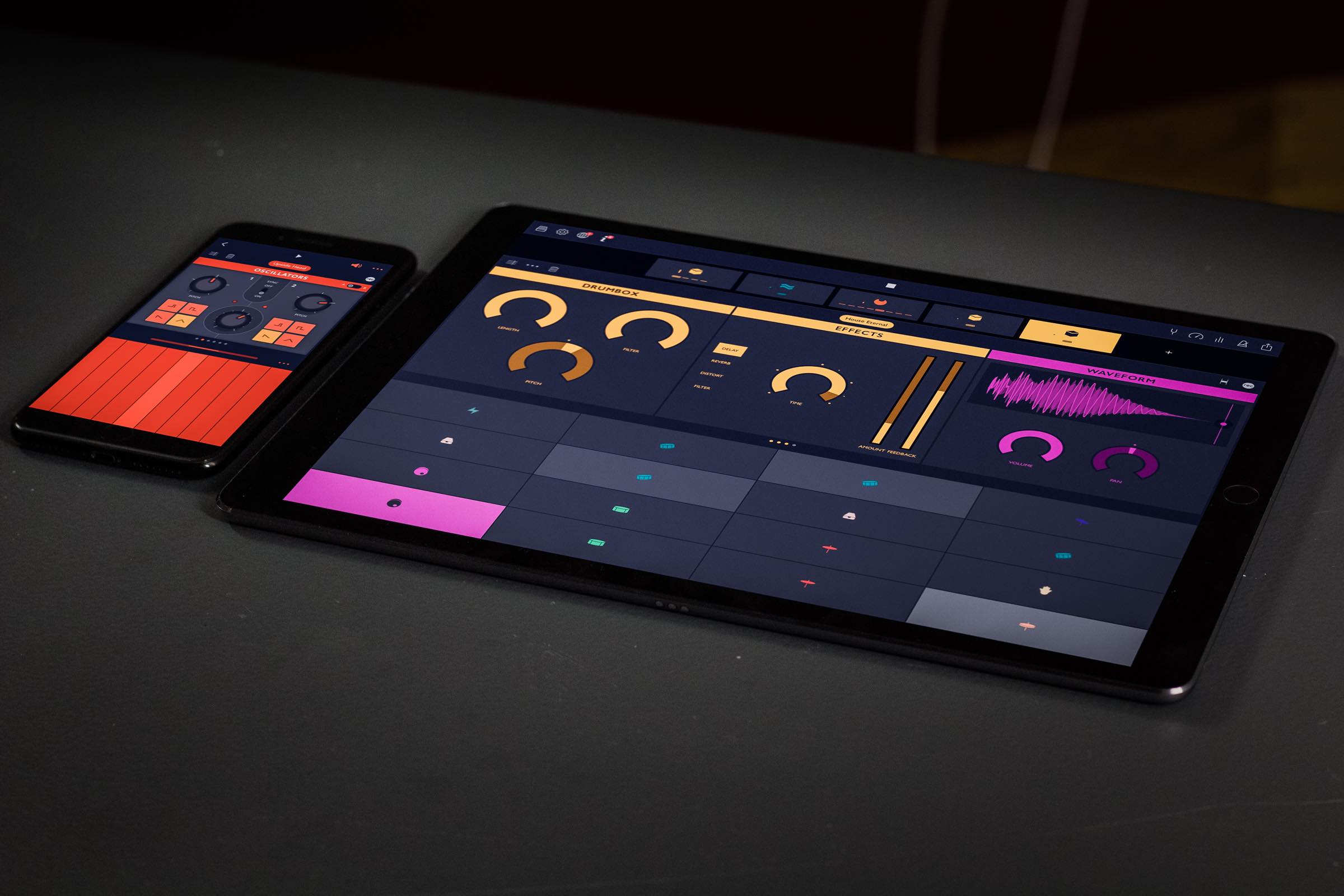 Groovebox // A New Beats & Synth Music Studio for iPad & iPhone