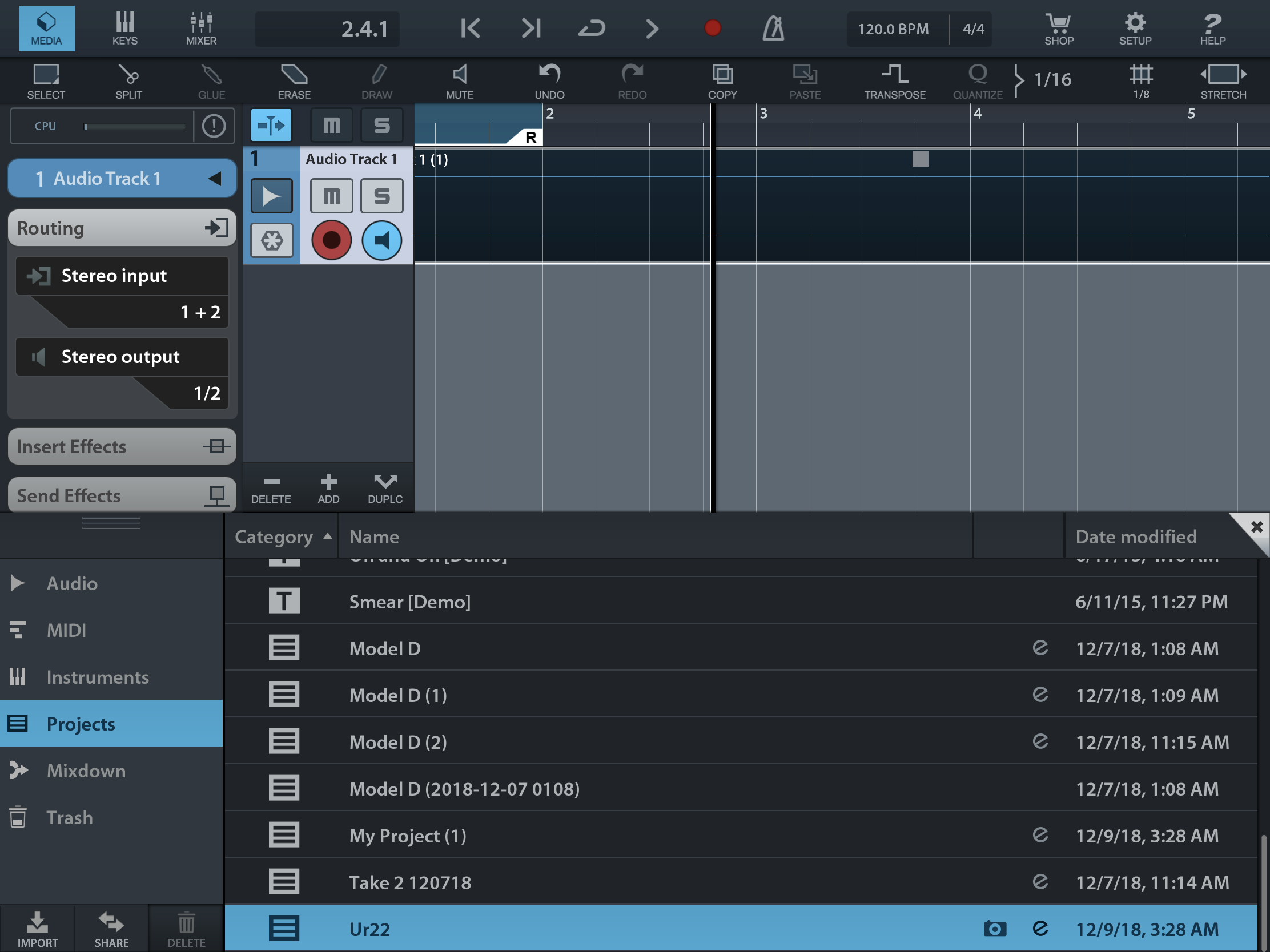 Recording Keyboard Sounds To iPad : Continuing with
