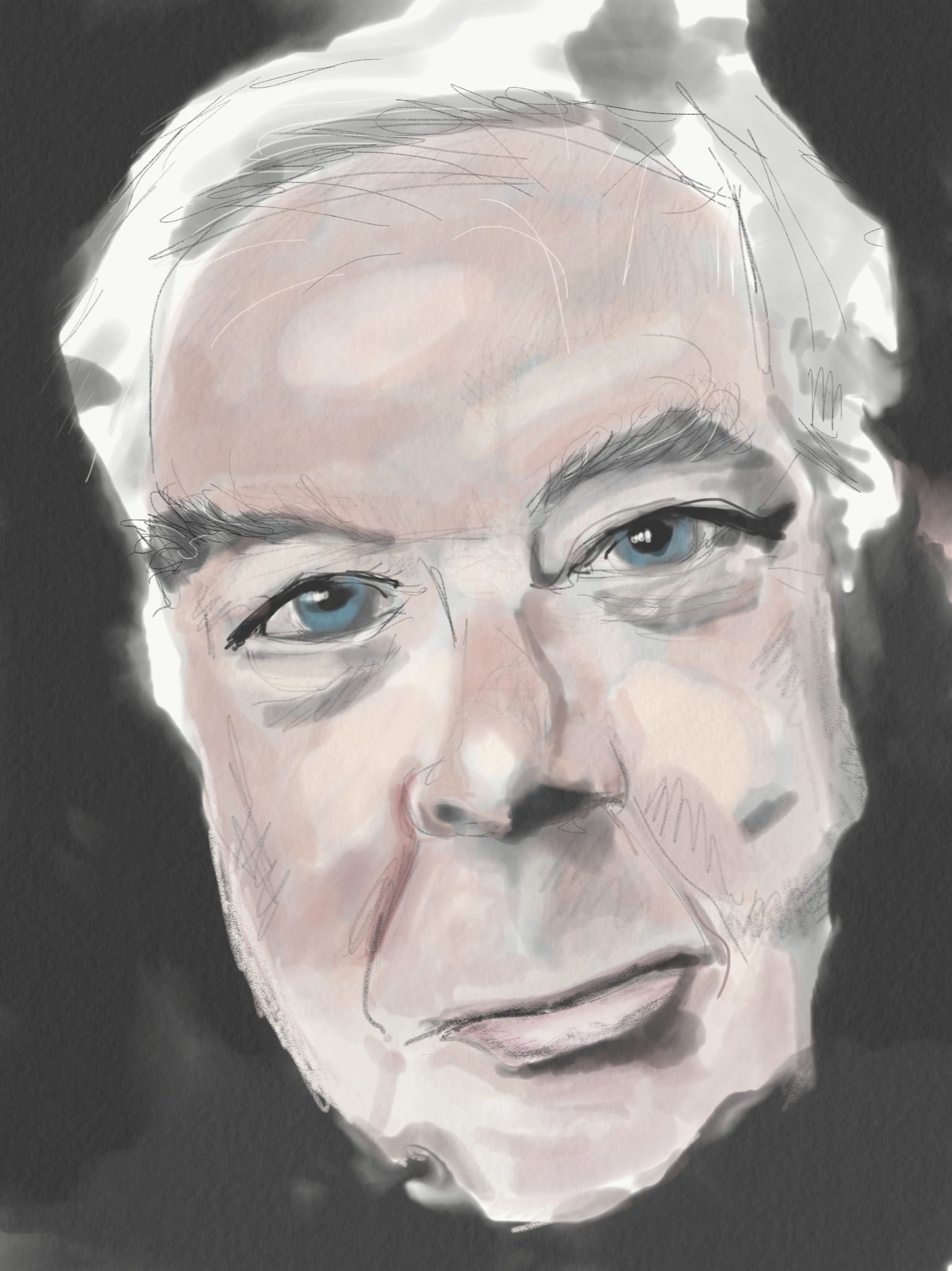 I just did this on my ipad mini 4 with a discontinued 53 pencil stylus on a free copy of adobe sketch its richard rorty