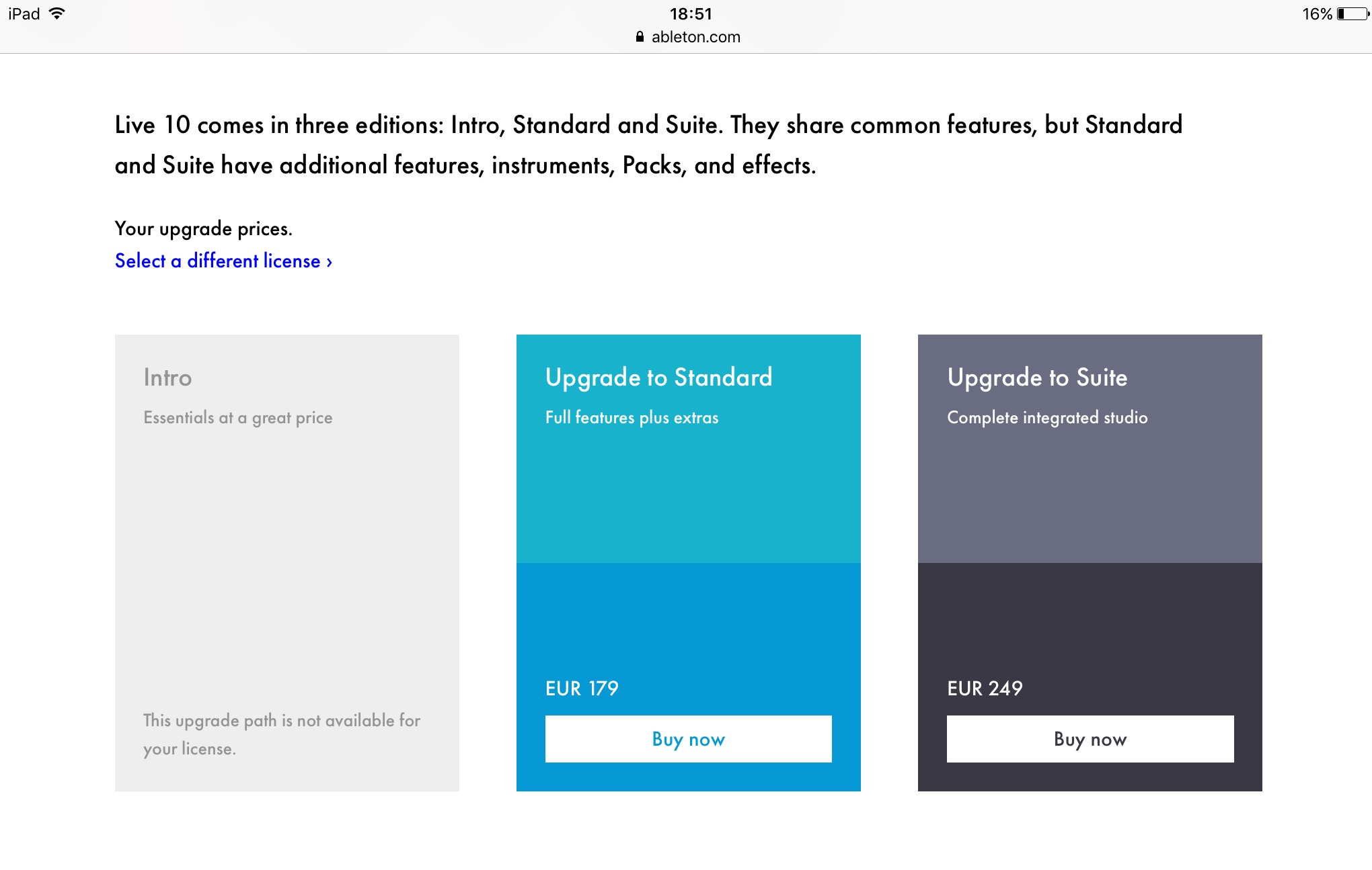 Does Ableton Live Suite 10 fit into my plans versus