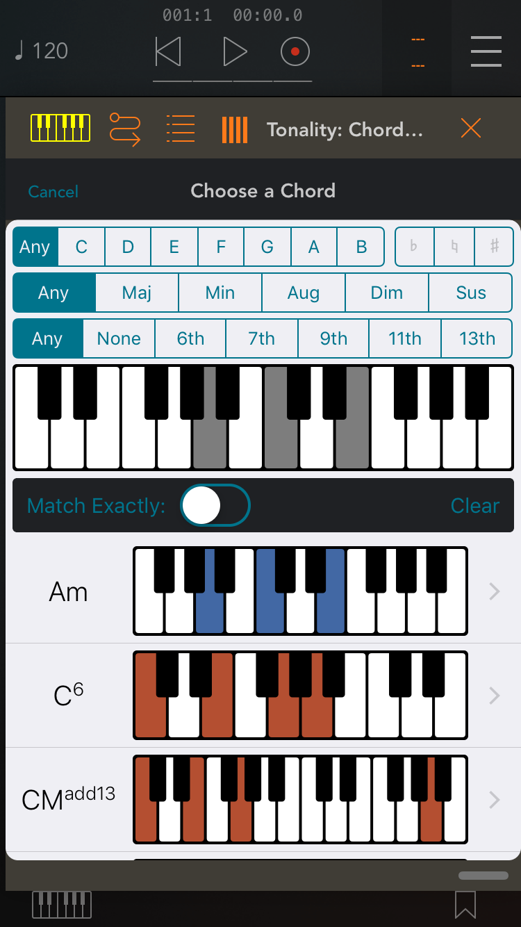 Tonality - Music Reference by Bryce Hostetler - Updated with Midi